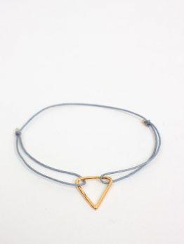 Bohemia Gold Pyramid Bracelet Grey