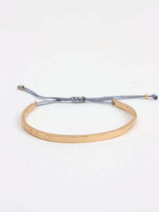 Bohemia Gold Celeste Bracelet Pale Grey