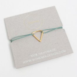 Bohemia Gold Pyramid Bracelet