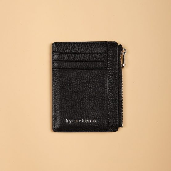 Zip Card Holder Black