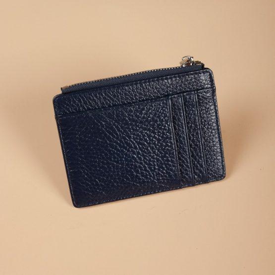 Zip Card Holder Blue