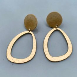 Kyra and Kenja Gold Earring